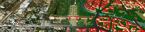 Stadtbild aus 3D-Punktwolken - Banner